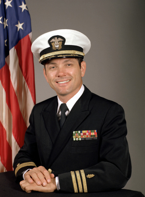 CDR Larry G. Campbell, USN (covered)