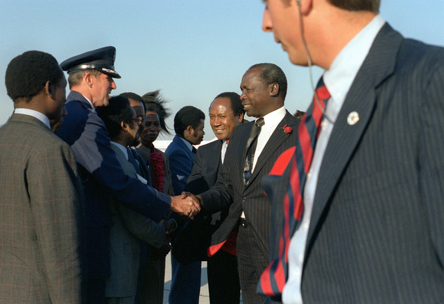 Prince Michael Moi of Kenya is welcomed upon his arrival for a visit to the United States