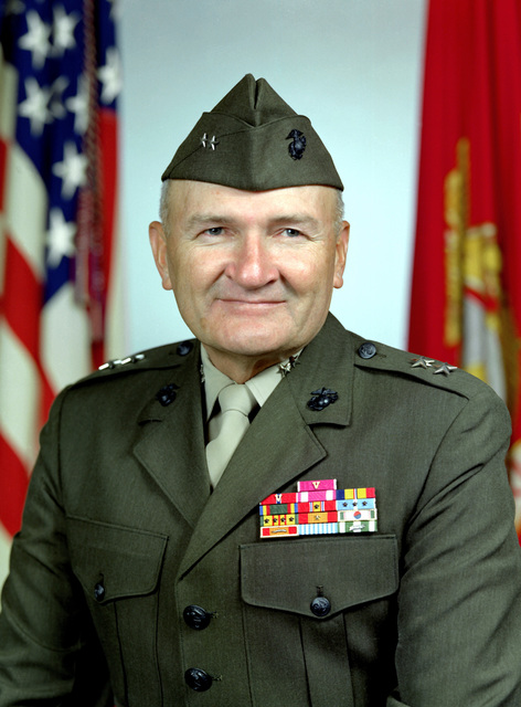 MGEN Harold G. Glasgow, USMC (covered)