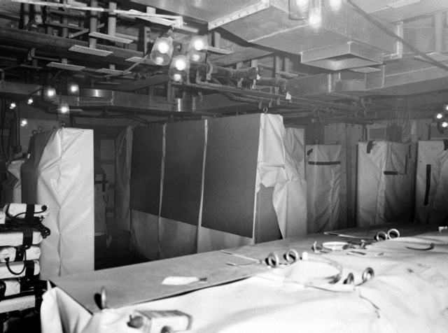 The data processing center of the destroyer USS HAYLER (DD-997). The destroyer, which is being built by Ingalls Shipbuilding, is presently 40 percent complete