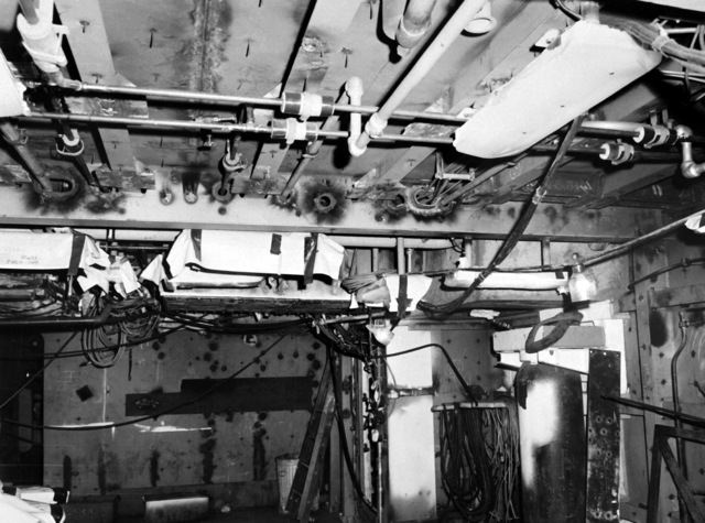 The starboard torpedo room aboard the destroyer HAYLER (DD-997). The ship, which is being built by Ingalls Shipbuilding, is presently 40 percent complete