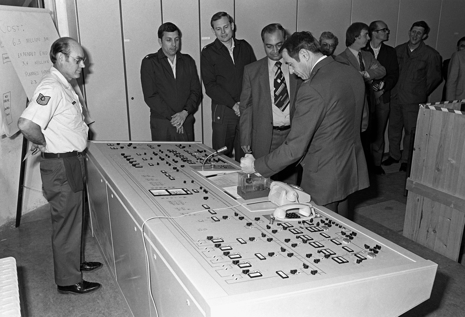 From (left to right), MSGT R. Lemere, LTC P. Feldman, MAJ N. Krause, N. Jaggi and COL G. Spohn participate in the grand opening of the new Power Conservation System at Tempelhof Central Airport