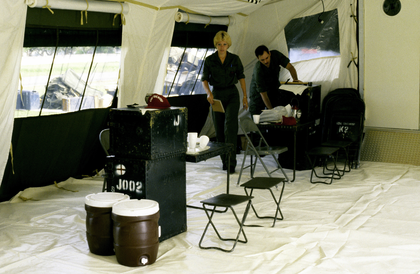 Interior view of The new TEMPER (Tent, Expandable, Modular