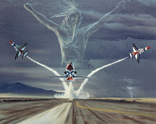 "Artwork: ""Legend of the Thunderbirds"" Artist: William Phillips U. S. Air Force Art Collection"