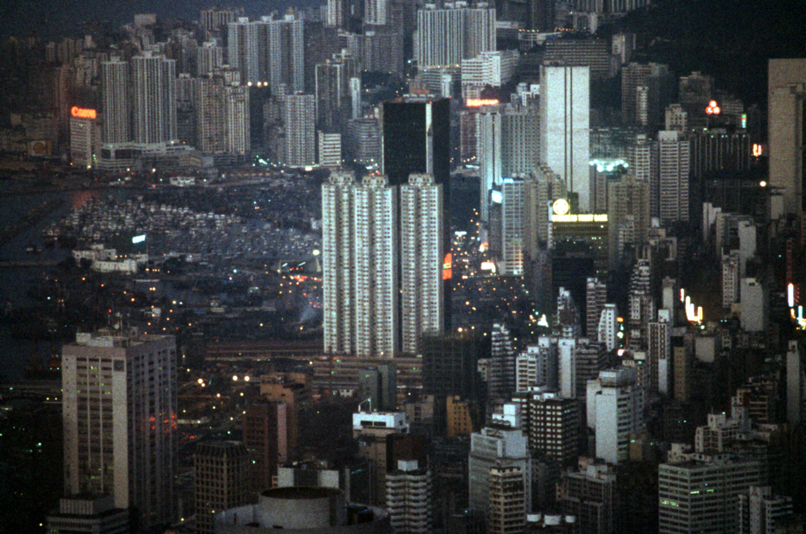 Night view of the city as seen from Victoria Peak