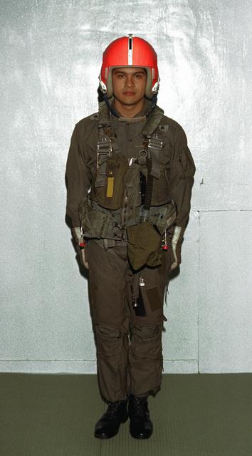 CPL R. Osuna models the present day Marine Corps flight uniform at the 206th Marine Corps birthday ball