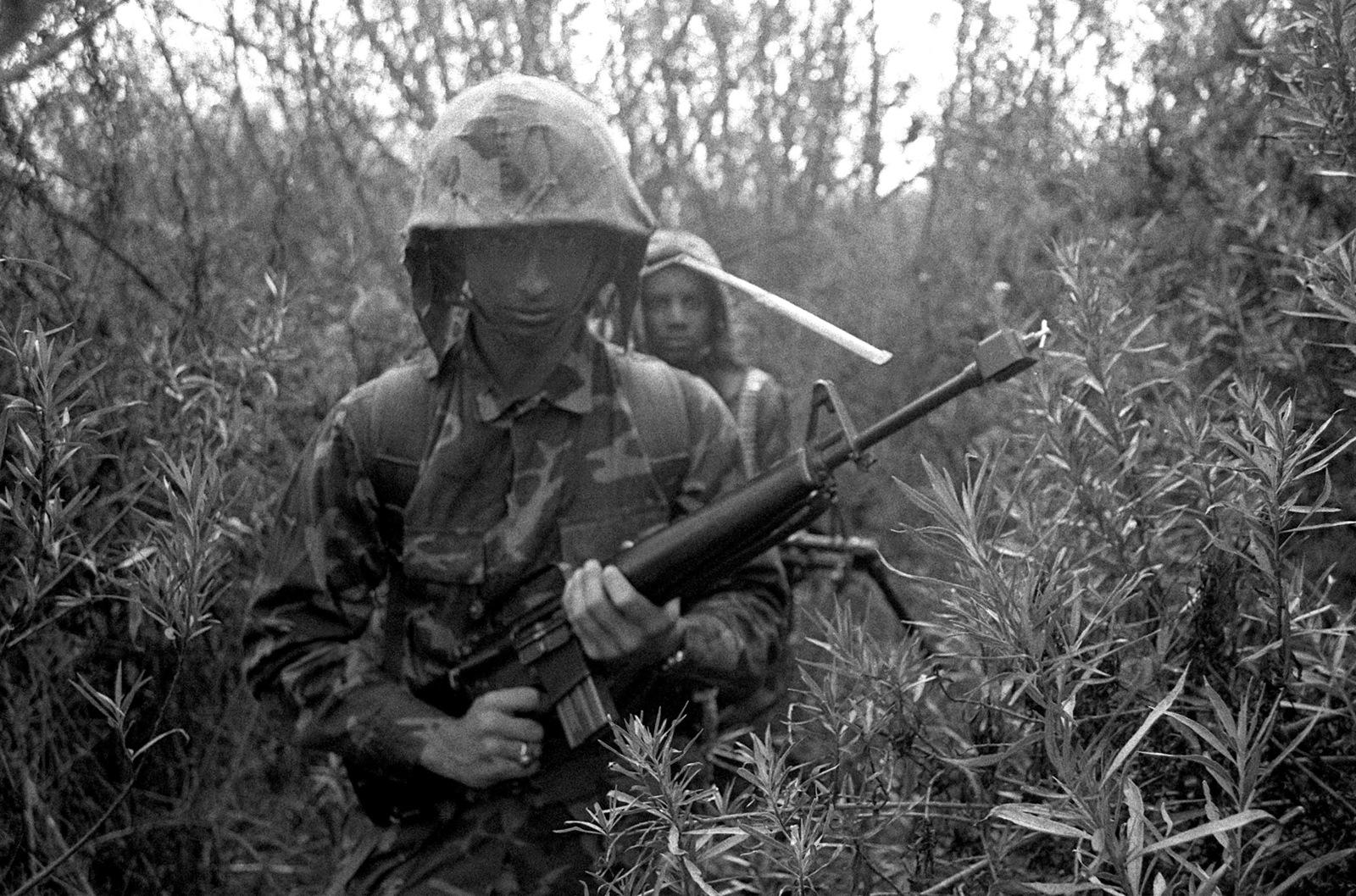 PFC Phillip Pendleton, great grand nephew of the late MGEN Joseph H. Pendleton, goes through infantry training