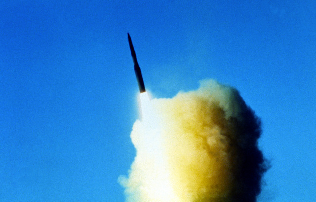 Launch of Minuteman laser-guided missile 30