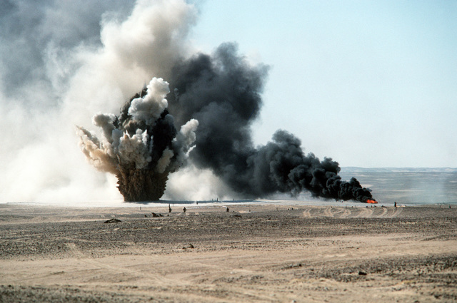 A combined armament live fire exercise (CALFEX) takes place during Bright Star '82, an exercise involving troops from the U.S., Egypt, Sudan, Somalia, and Oman