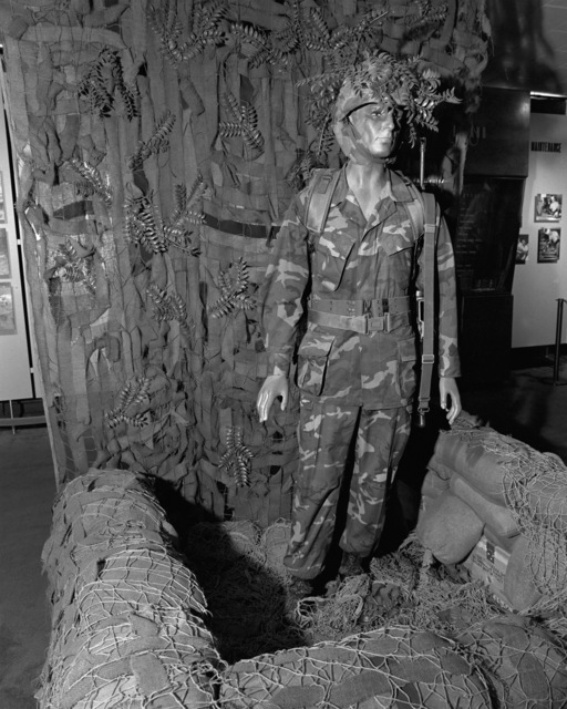 The uniform worn by Marines in Vietnam, which is still being worn today, is on display in the War Memorial Marine Corps Museum at the Marine Corps Recruit Depot