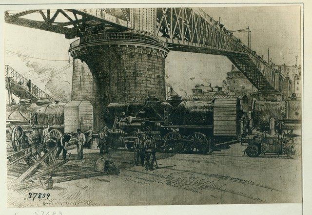 Baldwin Locomotives Unloaded as Shipped on the Wharf at Brest, 37 Complete with Rails in One Hold