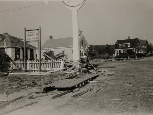 Hurricane Damage near Buzzards Bay in Massachusetts