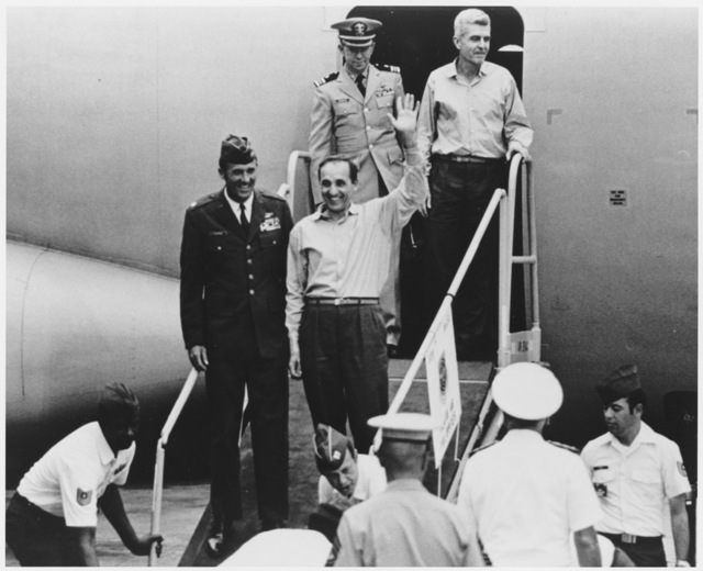 Photograph of Captain James Stockdale After Being Released as a Prisoner of War