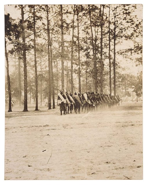 Photograph of Troops Marching on Foot