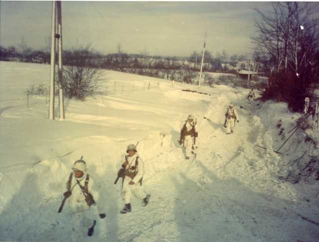 Yanks Trudge through Snow from Humpange, Belgium to St. Vith
