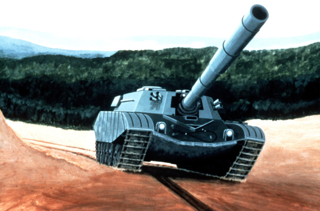 An artist's concept of the new Soviet T-80 tank. PHOTO courtesy of Soviet Military Power Magazine