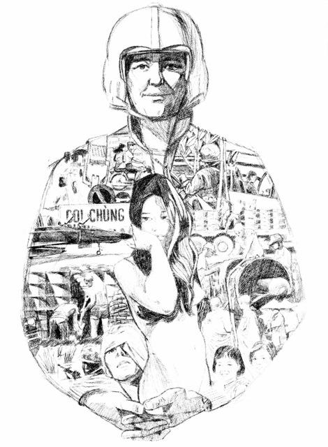 "Artwork: ""Air Support - Southeast Asia 1970"" Artist: Kenneth Webster"