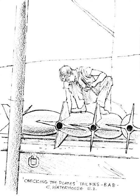 "Artwork: ""Checking the Plates"" Artist: Charles Waterhouse"
