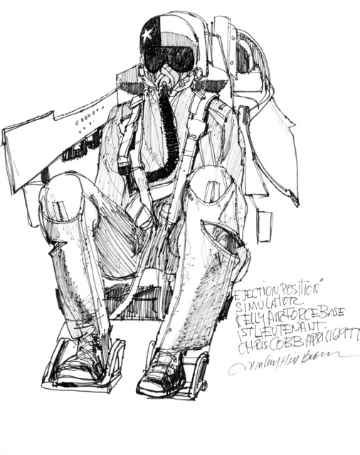 "Artwork: ""Ejection Position"" Artist: Marbury Brown"