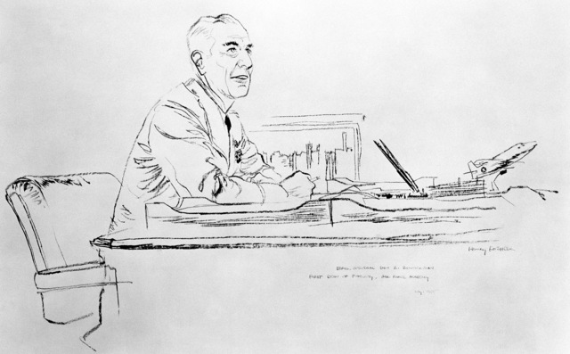 "Artwork: ""First Dean of Faculty - Air Academy - BGEN Zimmerman"" Artist: Henry Koehler"