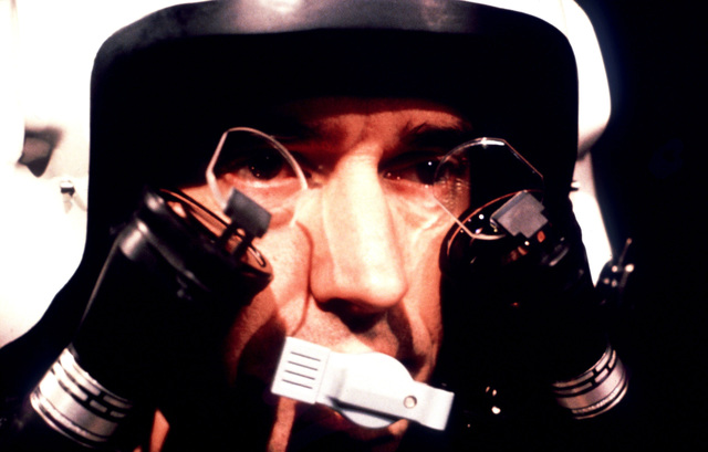 Air Force Resources Laboratory. A close-up view of a Helmet-Mounted Display