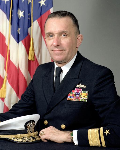 RADM Warren C. Hamm, USN (uncovered)