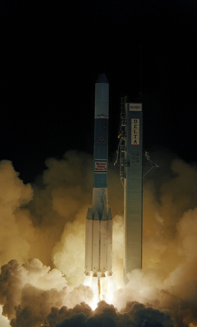 A Westar IV communications satellite is launched aboard a Delta 160 launch vehicle from Complex 17