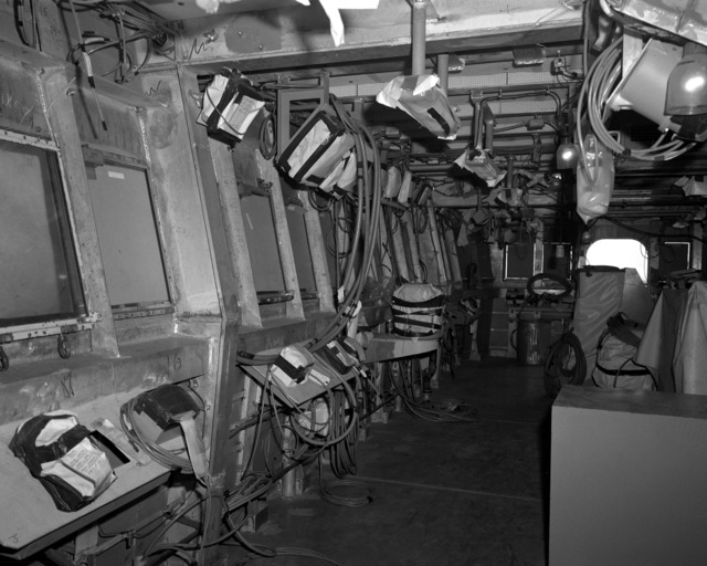 A view of the bridge of the destroyer HAYLER (DD-997) at 60 percent completion
