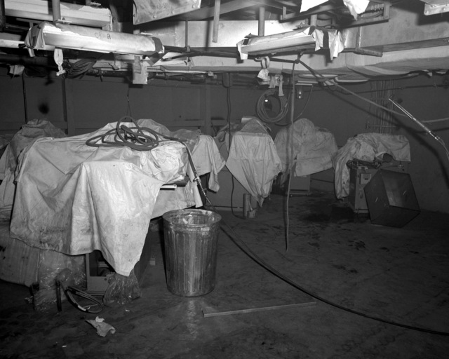A view of the laundry room aboard the destroyer HAYLER (DD-997) at 60 percent completion