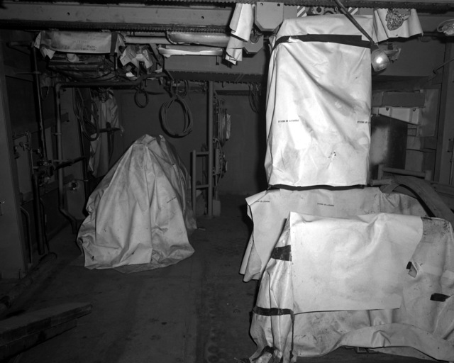 A view of the torpedo room aboard the destroyer HAYLER (DD-997) at 60 percent completion