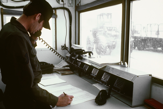 TSGT William D. Brooks, an air traffic controller for the 435th Airlift Control Element, is a participant from many countries are involved in this exercise