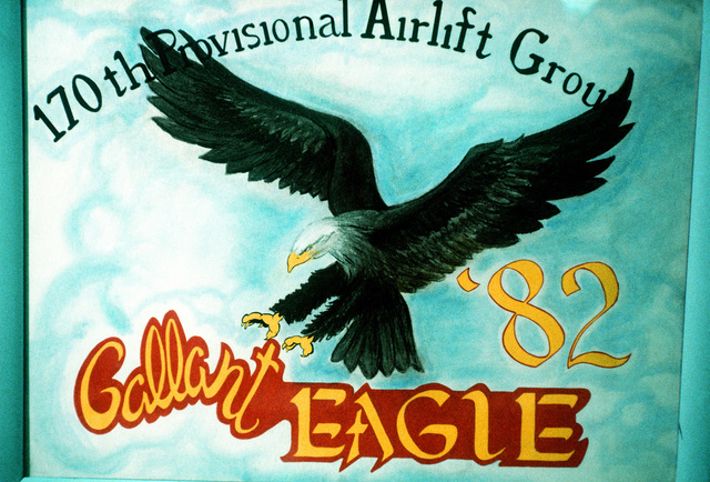 An artist's drawing of the Gallant Eagle motif for the 1982 exercise