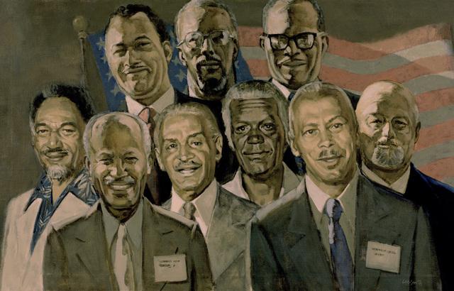 "Artwork: ""Reunion"" Artist: Hughie Lee-Smith, 1978-18. Courtesy U.S. Navy Combat Air Center"