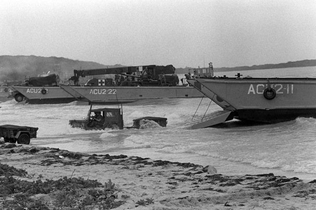 A mechanized landing craft 8 (LCM 8) (Hull No. 920 ...