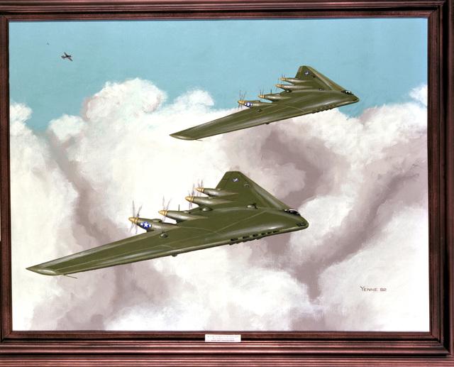 "Artwork: ""B-35's in Action, Hokkaido-1946"" Artist: Bill Yenne"
