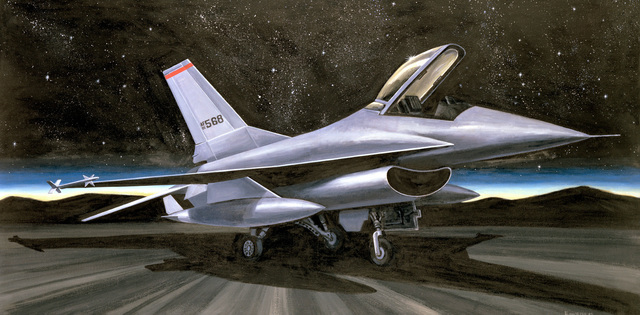 "Artwork: ""F-16 Sleepless Giant"" Artist: Harry Fass"