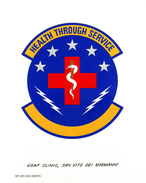 Approved Insignia for: United States Air Force Clinic San Vito Die Normanni