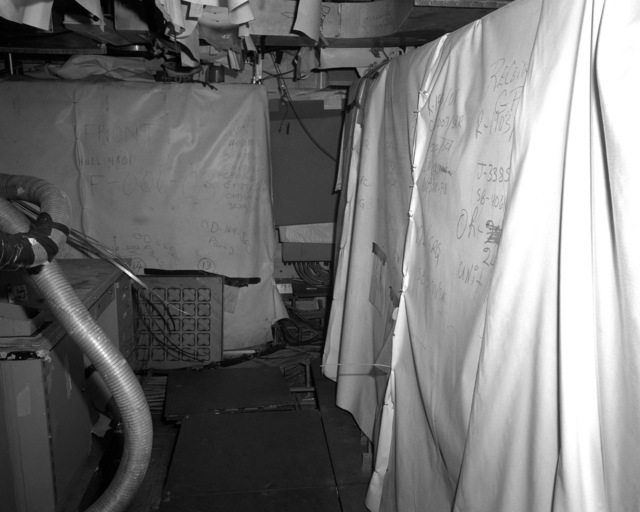 A view of the data processing center aboard the Spruance class destroyer HAYLER (DD-997) at 70 percent completion