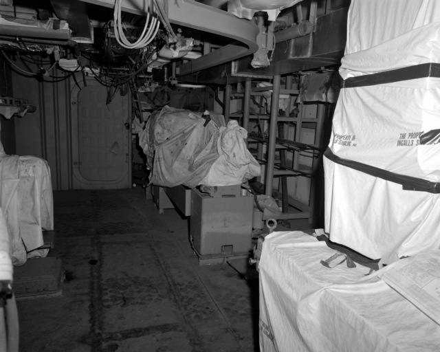A view of the machine shop aboard the Spruance class destroyer HAYLER (DD-997) at 70 percent completion