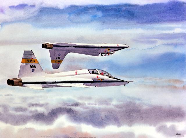 "Artwork: ""Private Air Show NASA Pilots"" Artist: George Guzzi"