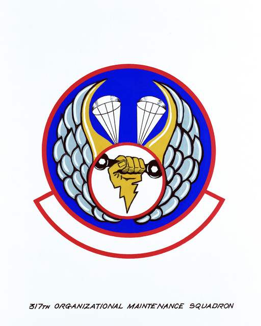 Approved insignia for: 317th Organizational Maintenance Squadron