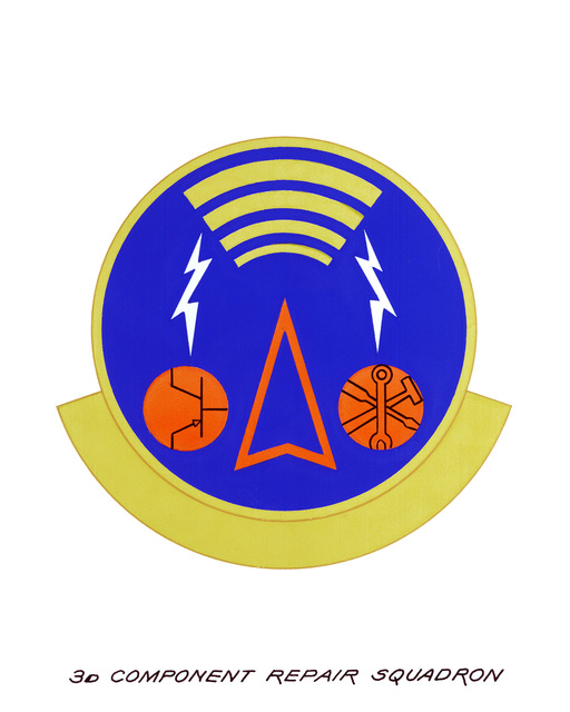 Approved insignia for: 3rd Component Squadron