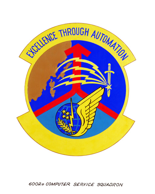 Approved insignia for: 6002nd Computer Service Squadron