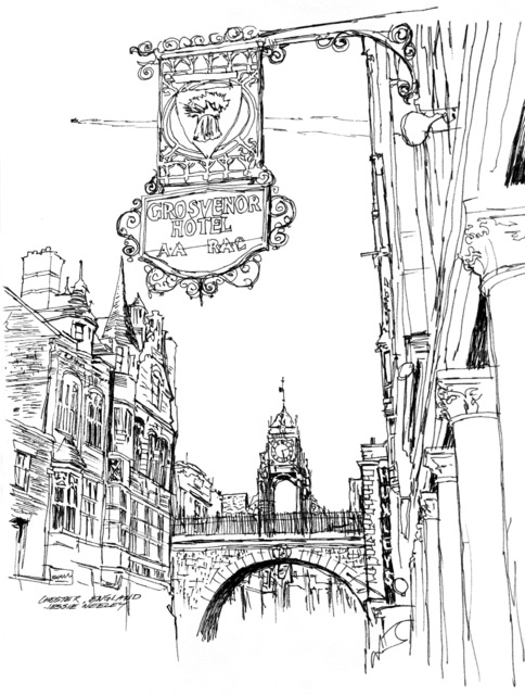 "Artwork: ""Chester, England"" Artist: Jessie Neeley"