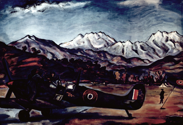 """Artwork: """"French Spitfire, Corsica"""" Artist: Rudolph Von Ripper"""