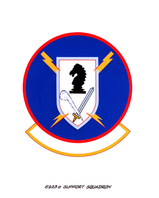 Approved insignia for: 6923rd Support Squadron