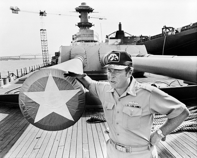 CDR Doug Meyer, officer in charge of the transfer of the battleship IOWA (BB-61) from Philadelphia to the Avondale Shipyards, Inc., talks about the journey