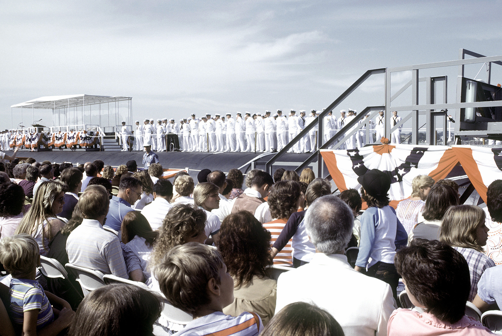 The crew of the nuclear-powered strategic missile submarine