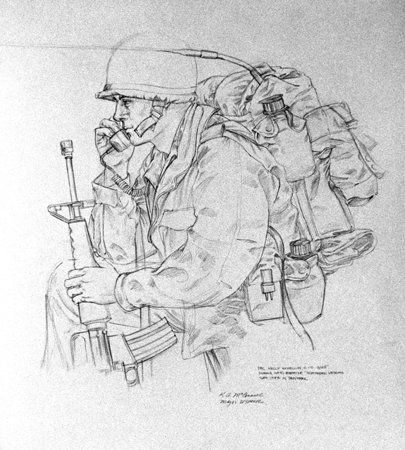 Sketch from NATO Exercise NORTHERN WEDDING. Artist: Major (MAJ) K.A. McConnell