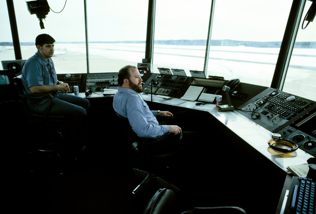 Flight operations take place in the base control tower